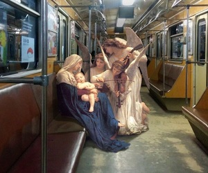 art, subway, and painting image
