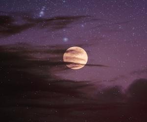 moon, stars, and nature image
