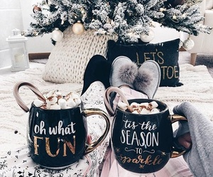 christmas, winter, and coffee image