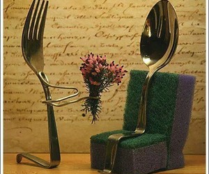 couple, fork, and knife image