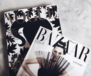 magazine, vogue, and black image