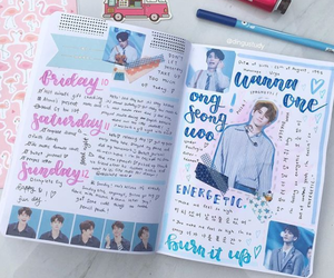 college, diary, and idea image