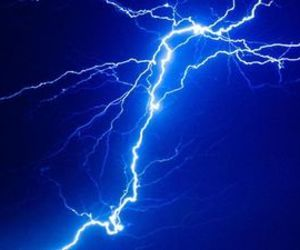blue, electricity, and lightning image