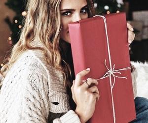 christmas, gift, and girl image