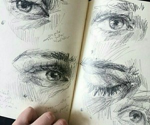 art, drawing, and eyes image