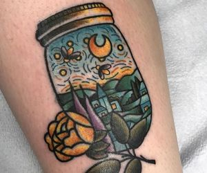 colors, inked, and tattoo image
