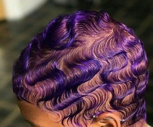 finger waves and purple hair image