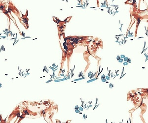 wallpaper, deer, and pattern image