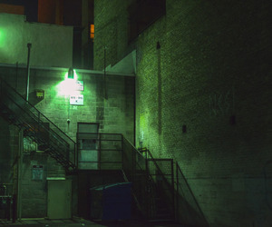 building, glow, and green image
