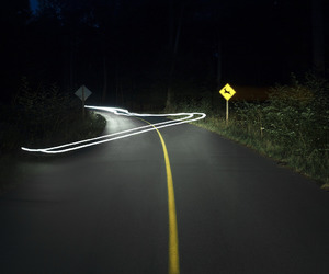 night, swerve, and road image