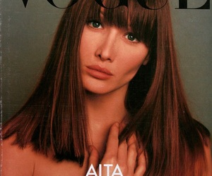 Carla Bruni, model, and vogue image