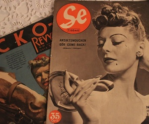 fashion, magazine, and old school image