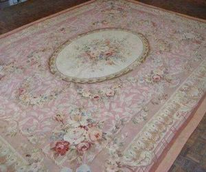 rug, pastel pink, and carpet image