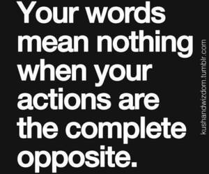 quote, words, and actions image