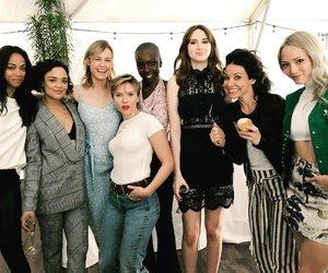 Marvel, Scarlett Johansson, and brie larson image