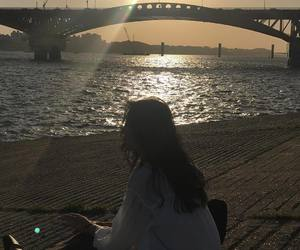 korea, picnic, and han river image