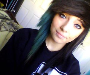 girl, beautiful, and blue hair image