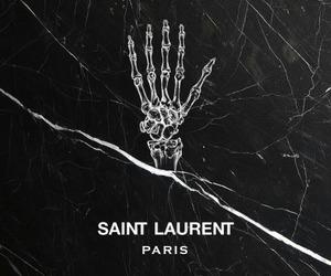black, saint laurent, and fashion image