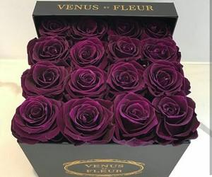 purple, rose, and beautiful image