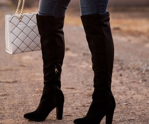 boots, ootd, and fashion image