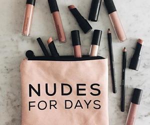 makeup, Nude, and lipstick image