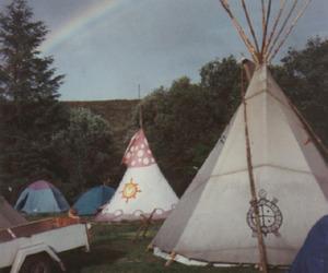 photo, tents, and raibow image