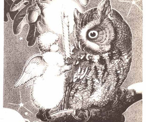 angel, etsy, and owl image