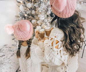 christmas, holiday, and pink image