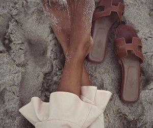 fashion, sand, and beach image
