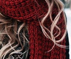 winter, scarf, and hair image