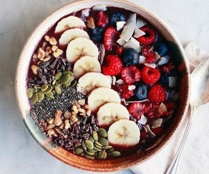 fitness, food, and acai bowl image