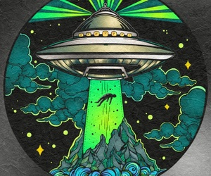 abduction, alien, and aliens image