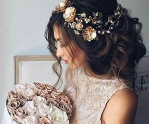 flowers, hair, and beauty image