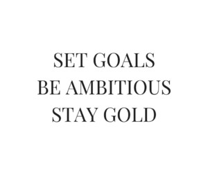 goals, quotes, and gold image