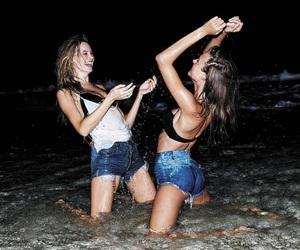 Behati Prinsloo, josephine skriver, and beach image