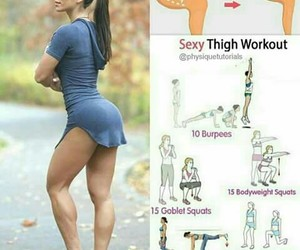 workout, exercises, and fitness image