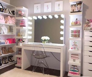 beauty, drawers, and lights image