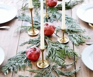 candles, christmas, and dinner image