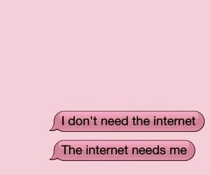 pink, internet, and wallpaper image