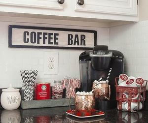 kitchen, christmas, and coffee image