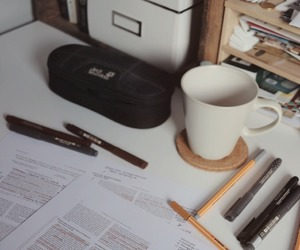 book, office, and desk image