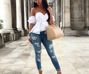 bag, curvy, and jeans image