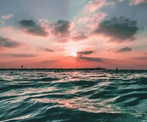 landscapes, sunset, and beach image