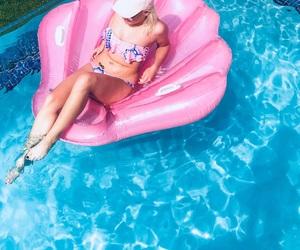 bikini, clam, and girl image