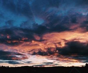 sky, beautiful, and sunset image
