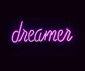 dreamer, Dream, and neon image