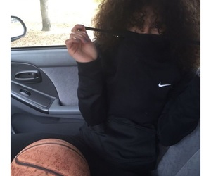 nike, Basketball, and curly image
