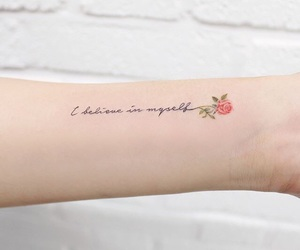 tattoo, arm, and believe image
