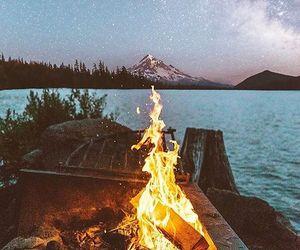 amazing, fire, and lake image