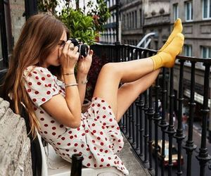 girl, outfit, and wine image